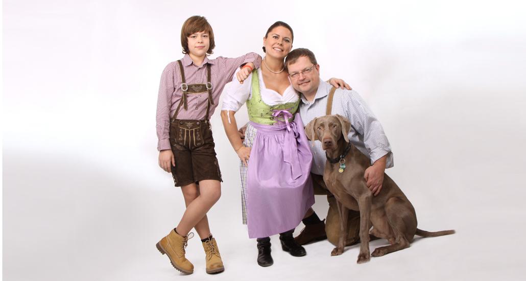 Fotoshooting Familie+ Hund Fotostudio Foto Nitsche