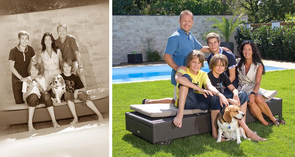 Familienfoto outdoor Fotostudio Foto Nitsche