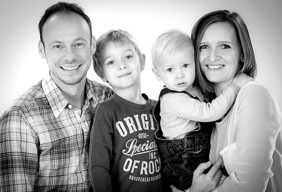Familienportraitsaufnahme